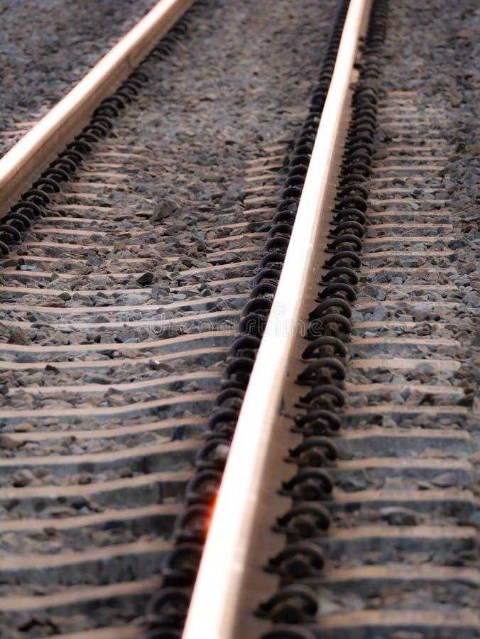 Równoległe linie linia kolejowa zdjęcia royalty free