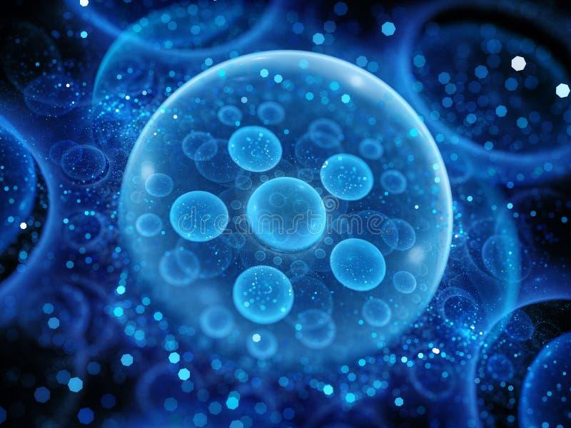 Równoległy wszechświatu bąbla model ilustracji