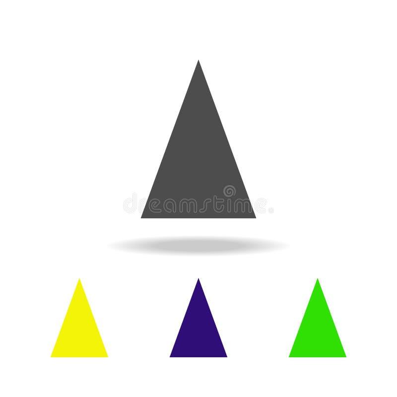 równoramiennego trójboka barwione ikony Elementy Geometrycznej postaci barwione ikony Może używać dla sieci, logo, mobilny app, U ilustracji