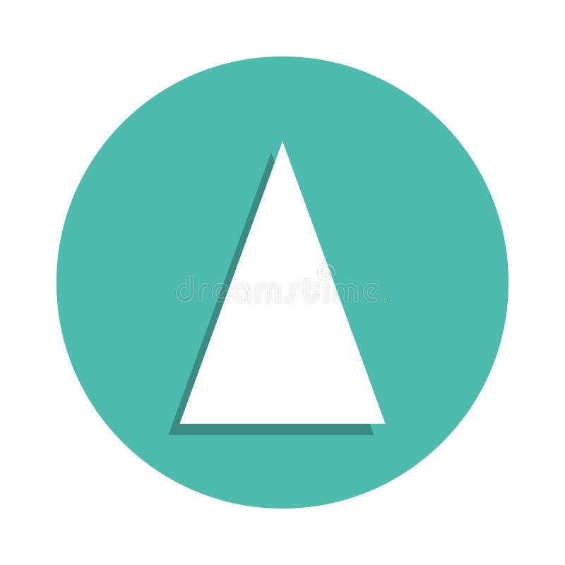 Równoramiennego trójboka ikona Elementy geometryczna postać w odznace projektują ikony Prosta ikona dla stron internetowych, sieć ilustracji