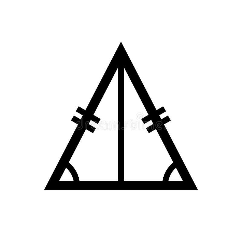 Równoramienny trójbok, dwa równej długości geometryczna postać royalty ilustracja