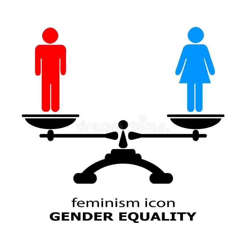 Równouprawnienie płci ikona ilustracja wektor