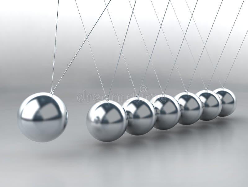 równoważenia piłek kołysankowy newton s ilustracja wektor