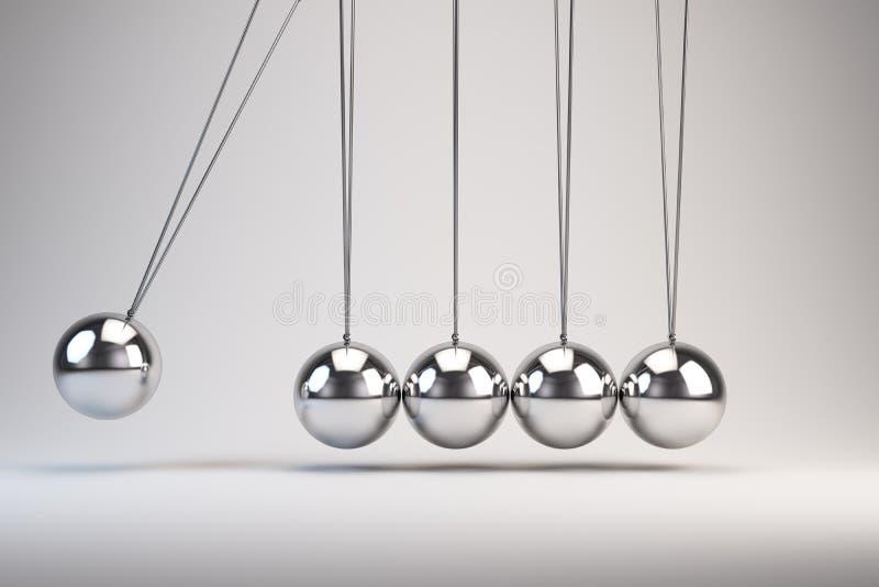 Równoważenie piłek newtonu kołyska ilustracja wektor