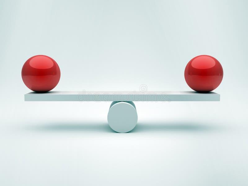 równowag sfery dwa ilustracji