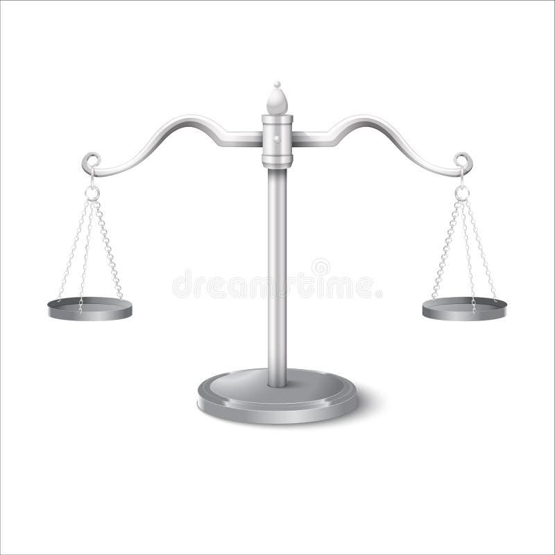 Równowaga waży gradient ilustracji