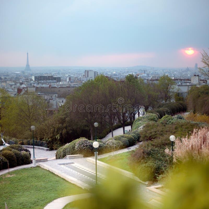 równy Belleville widok Paris obraz royalty free