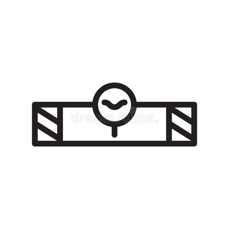 Równy ikona wektor odizolowywający na białym tle, pozioma znaku, kreskowym symbolu lub liniowym elementu projekcie w konturu styl royalty ilustracja