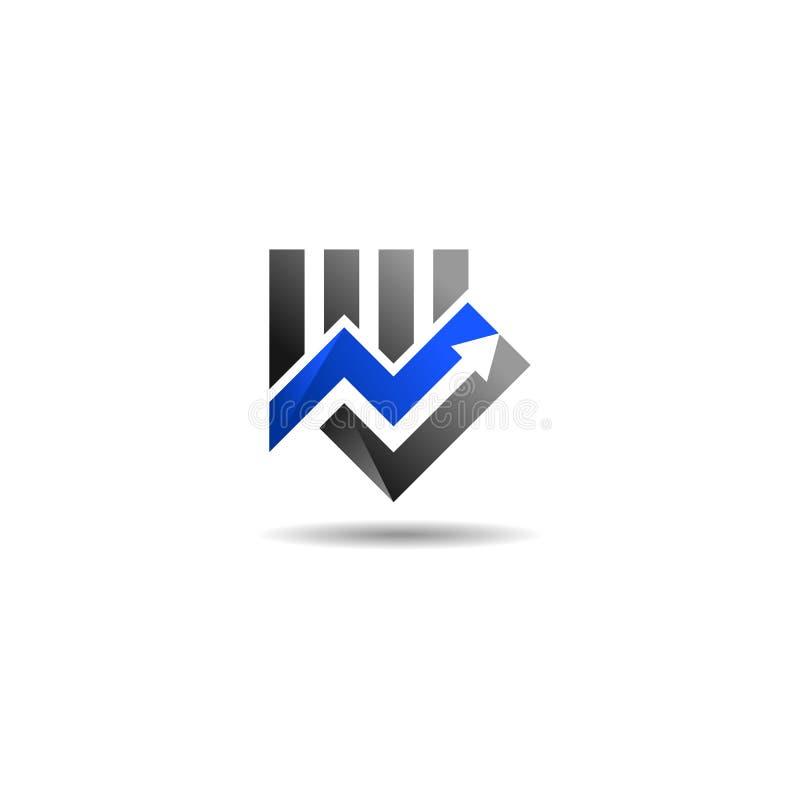 Równy marketingowy logo royalty ilustracja