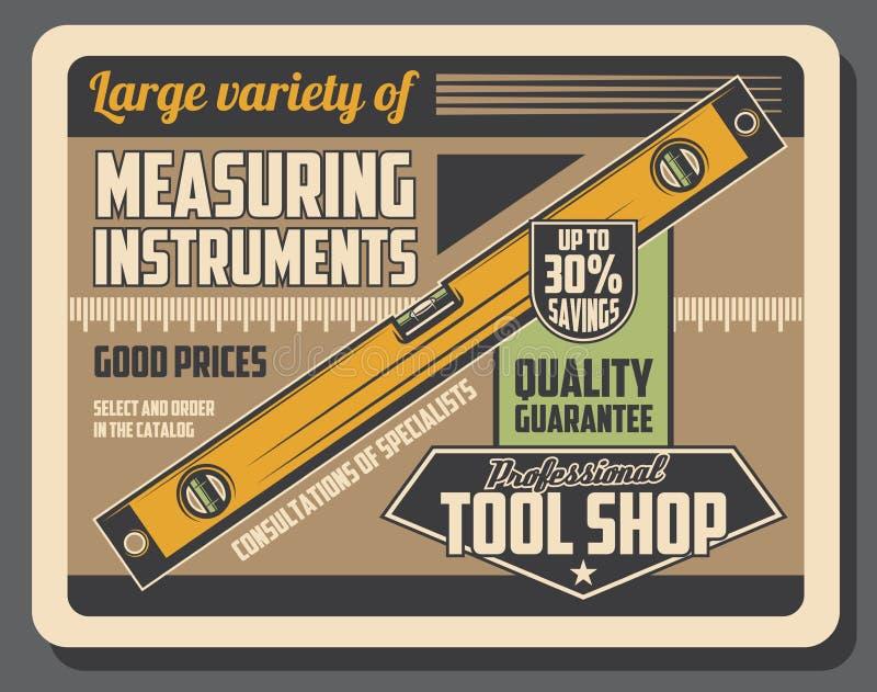 Równy pomiarowy instrument, budowy narzędzie ilustracja wektor