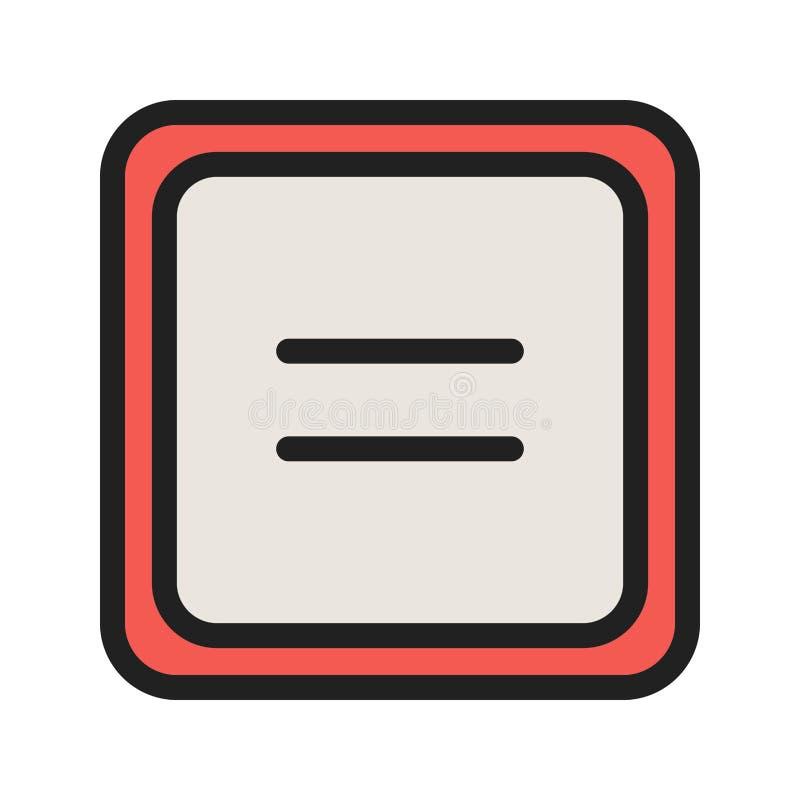 Równy symbol ilustracji