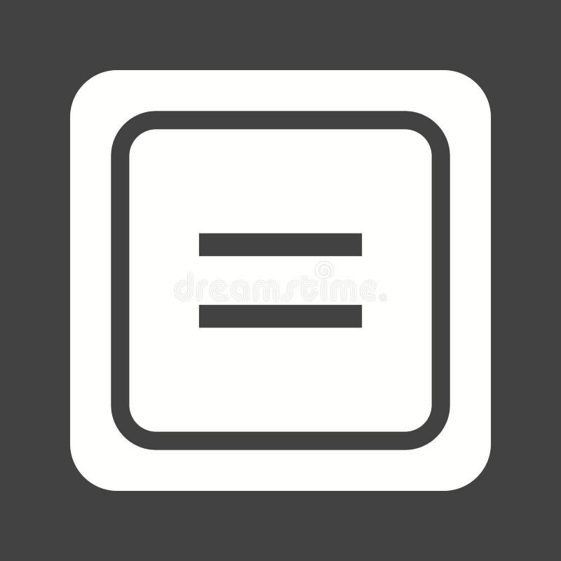 Równy symbol ilustracja wektor