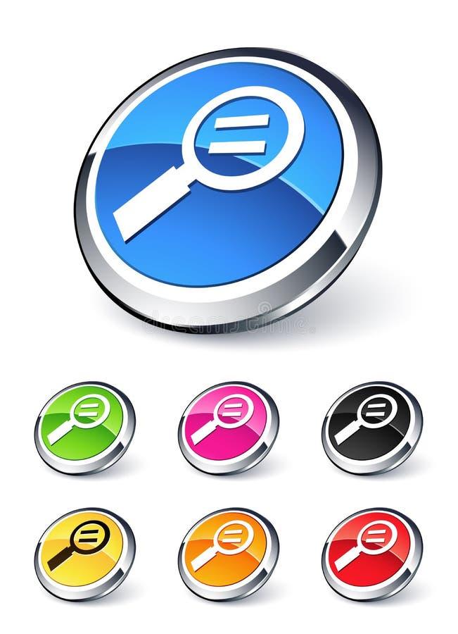 równy szklany target846_0_ ikony ilustracji