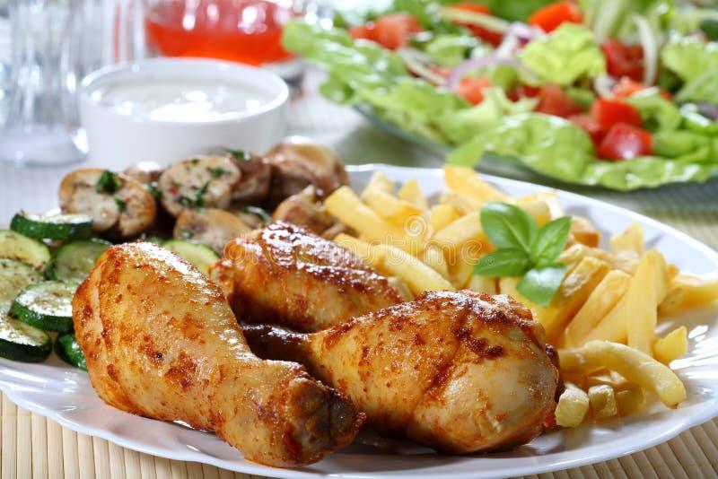 rôti de poulet images stock