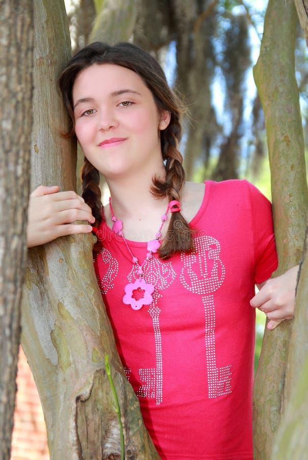Röd överkant För Flicka Fotografering för Bildbyråer