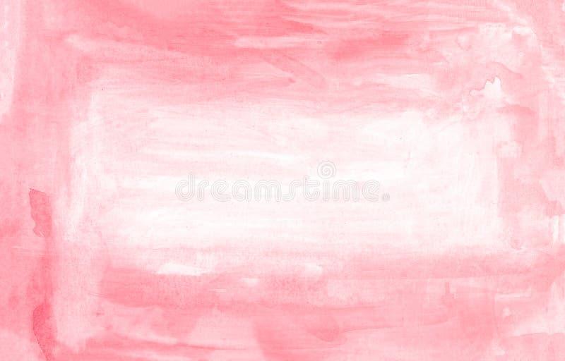 Röd abstrakt bakgrund för vattenfärghandmålarfärg, rasterillustration vektor illustrationer