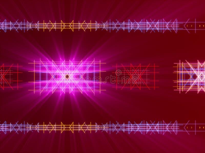 Röd abstrakt bakgrund, linjer och ljus royaltyfri illustrationer