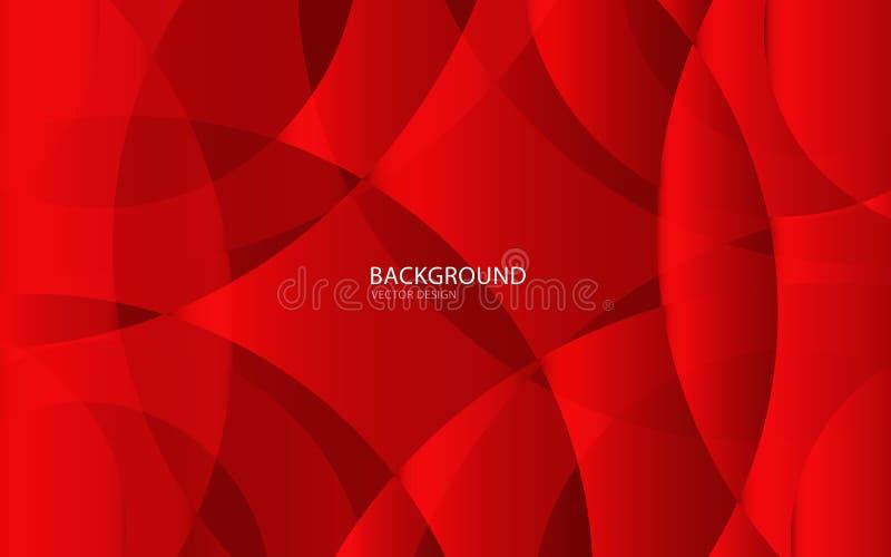 Röd abstrakt bakgrundsvektorillustration vägg Illustration i vektor räkning Kort textur royaltyfri illustrationer