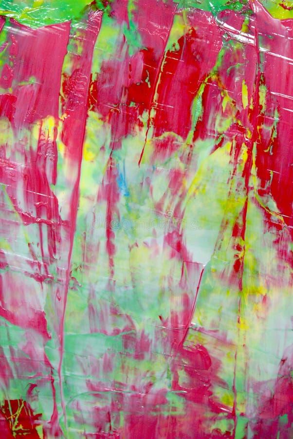 Röd abstrakt målning royaltyfri foto