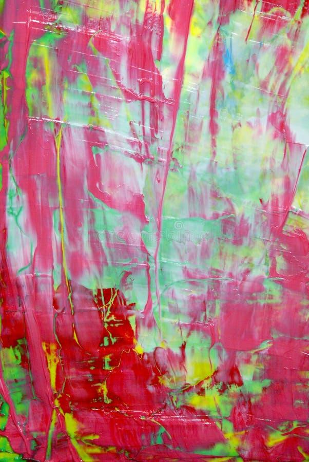 Röd abstrakt målning fotografering för bildbyråer