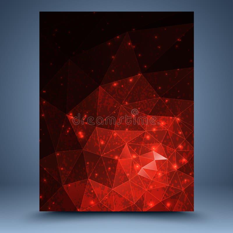 Röd abstrakt mall royaltyfri illustrationer