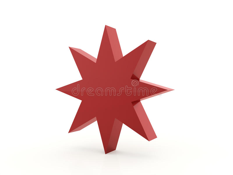 Röd abstrakt stjärnabakgrund vektor illustrationer