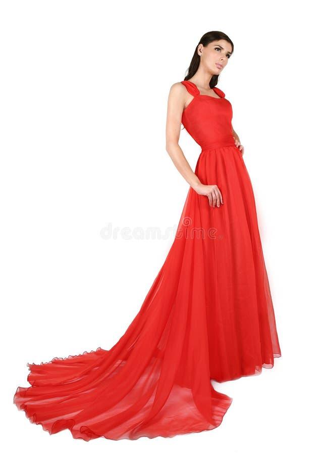 Röd aftonklänning arkivfoto