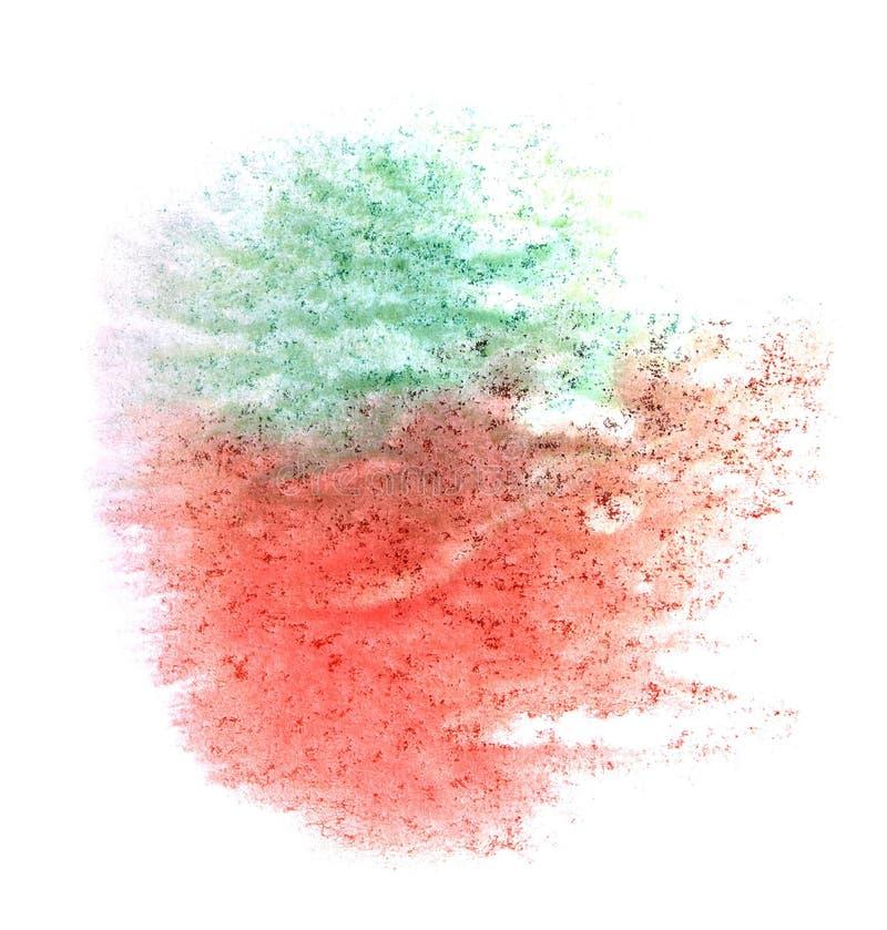 Röd akvarell för klick för målarfärg för konstvattenfärgfärgpulver, royaltyfria foton
