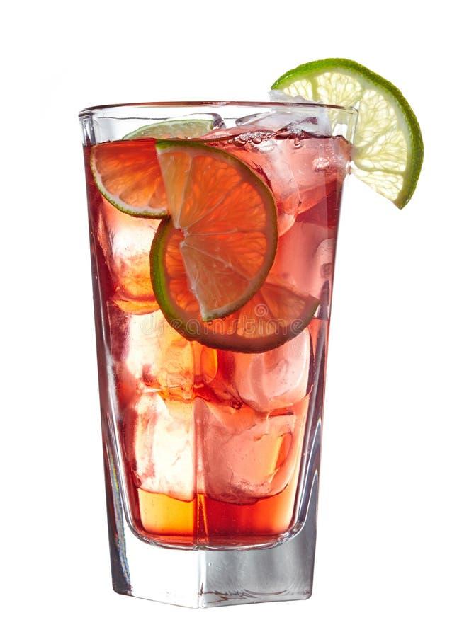 Röd alkoholiserad coctail royaltyfri foto