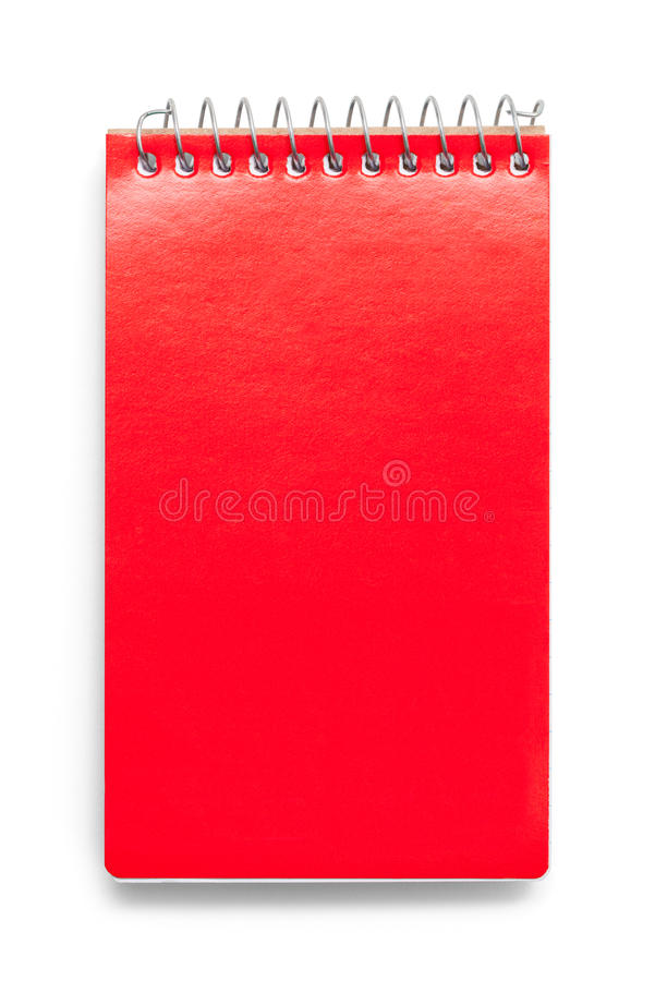 Röd anteckningsbok royaltyfri fotografi