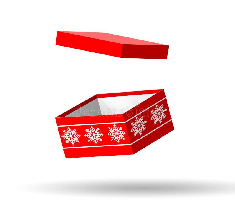 Röd ask för jul stock illustrationer