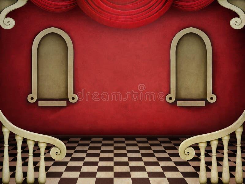 Röd bakgrund vektor illustrationer