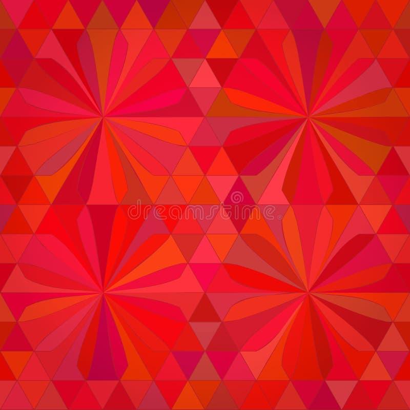 Röd bakgrund för abstrakt triangel royaltyfri illustrationer