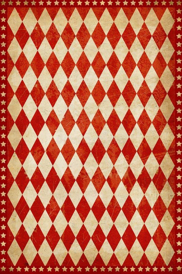 Röd bakgrund för tappningcirkusaffisch royaltyfri illustrationer
