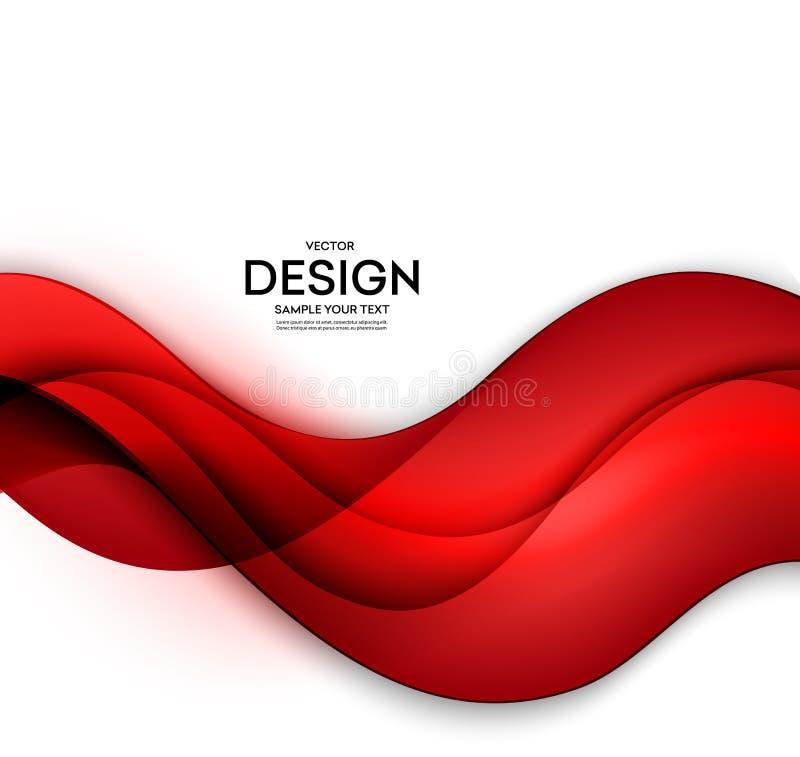 Röd bakgrund för vektormallabstrakt begrepp med kurvor fodrar För reklamblad planlägger broschyren, häftet och websites vektor illustrationer