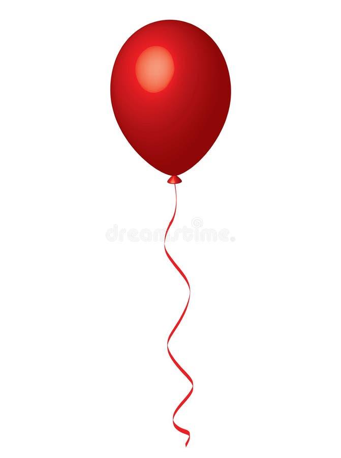 Röd ballong royaltyfri illustrationer