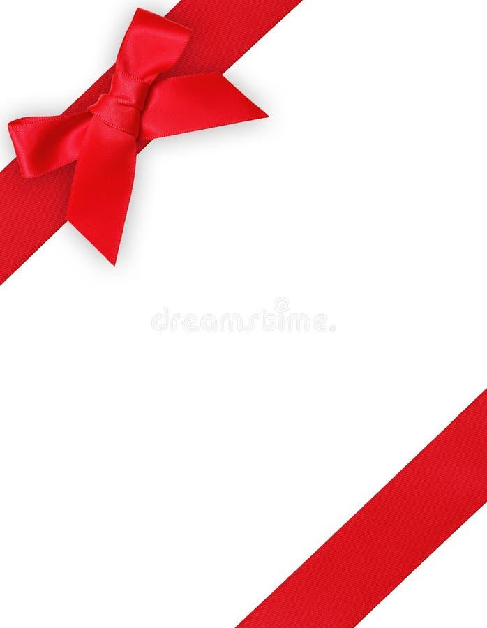 Röd band och bow arkivfoto