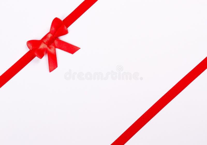 Download Röd bandbow fotografering för bildbyråer. Bild av vitt - 27286653