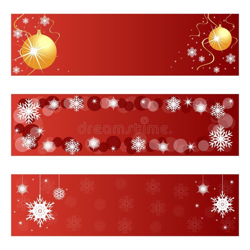röd banerjul royaltyfri illustrationer