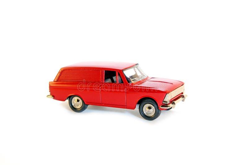 Röd bil för Collectible leksakmodell arkivbilder