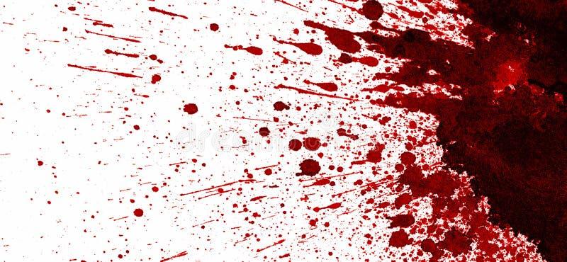 Röd blodfläck på vit royaltyfri illustrationer