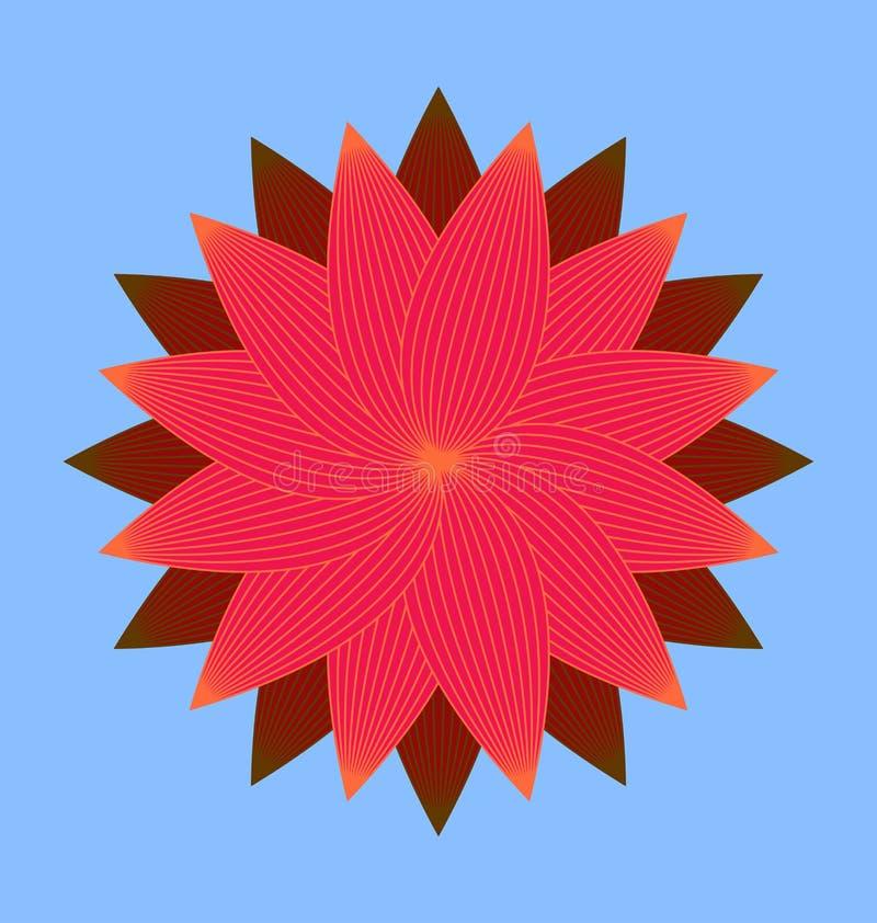 Röd blomningbild arkivbild