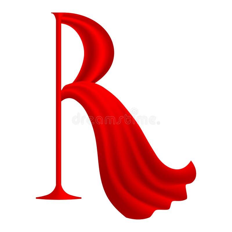 Röd bokstav R royaltyfri illustrationer