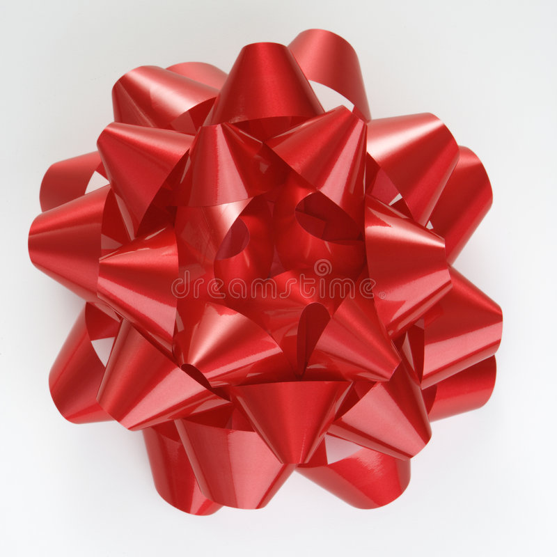 röd bowjul arkivfoto