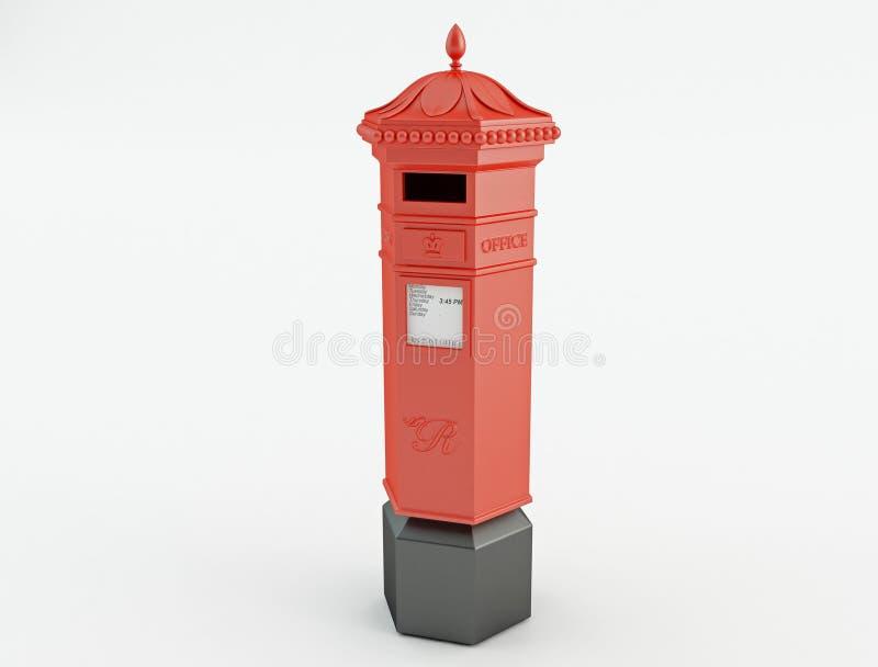 Röd brevlåda royaltyfria bilder