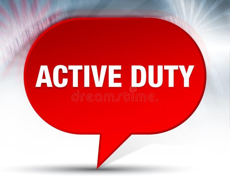 Röd bubblabakgrund för aktiv arbetsuppgift royaltyfri illustrationer