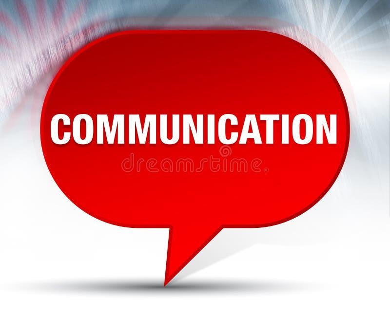 Röd bubblabakgrund för kommunikation royaltyfri illustrationer