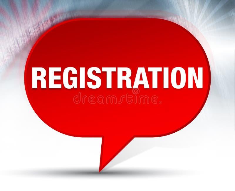 Röd bubblabakgrund för registrering royaltyfri illustrationer