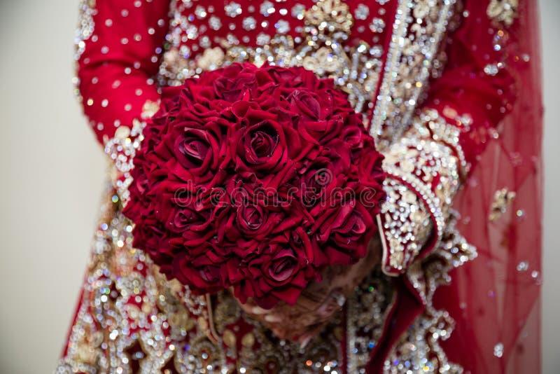 Röd bukett royaltyfri bild