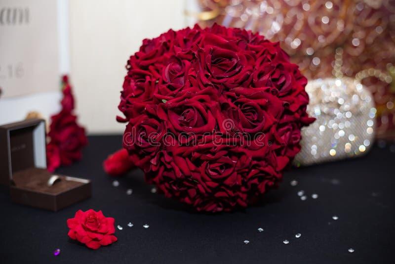 Röd bukett royaltyfri foto